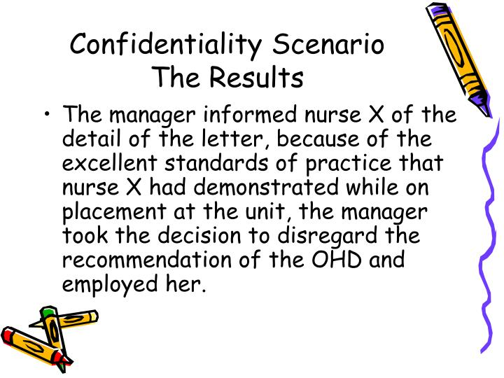 Confidentiality Scenario