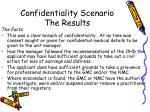 confidentiality scenario the results1