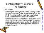 confidentiality scenario the results2