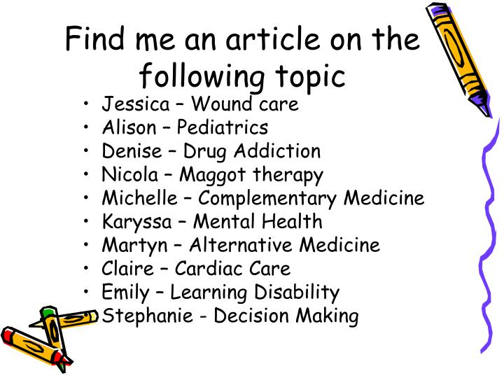 Find me an article on the following topic