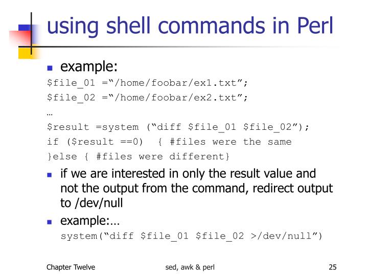 using shell commands in Perl