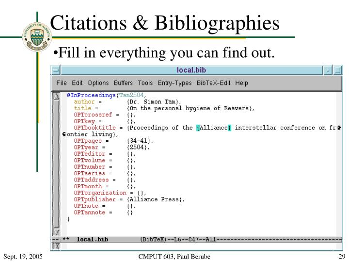 Citations & Bibliographies