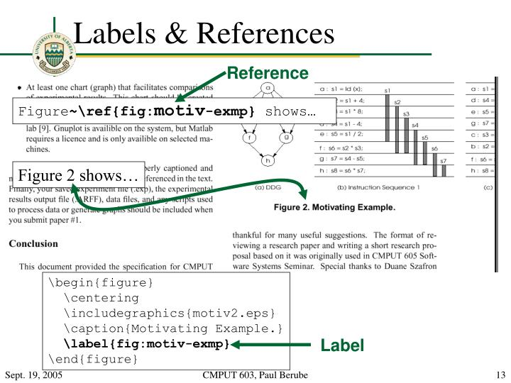 Labels & References