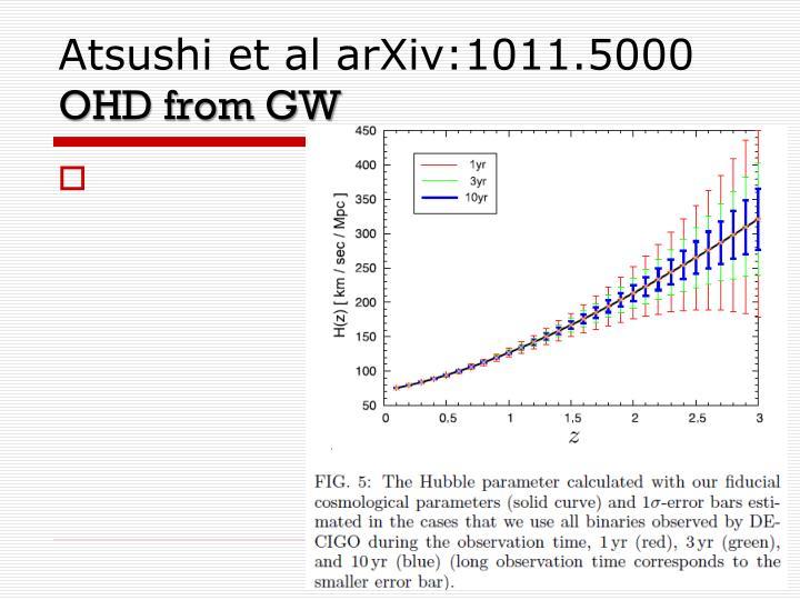 Atsushi et al arXiv:1011.5000