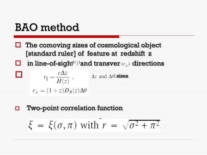 BAO method