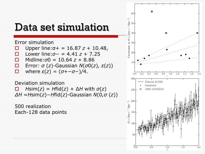 Data set simulation