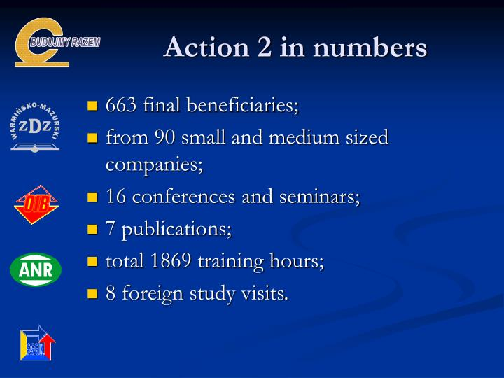 Action 2 in numbers