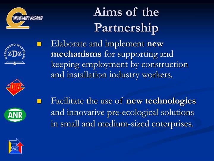 Aims of the Partnership