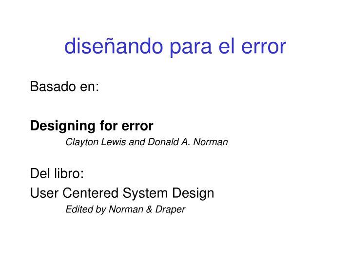 diseñando para el error