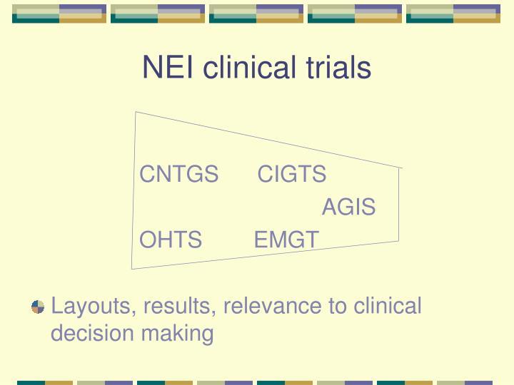 NEI clinical trials