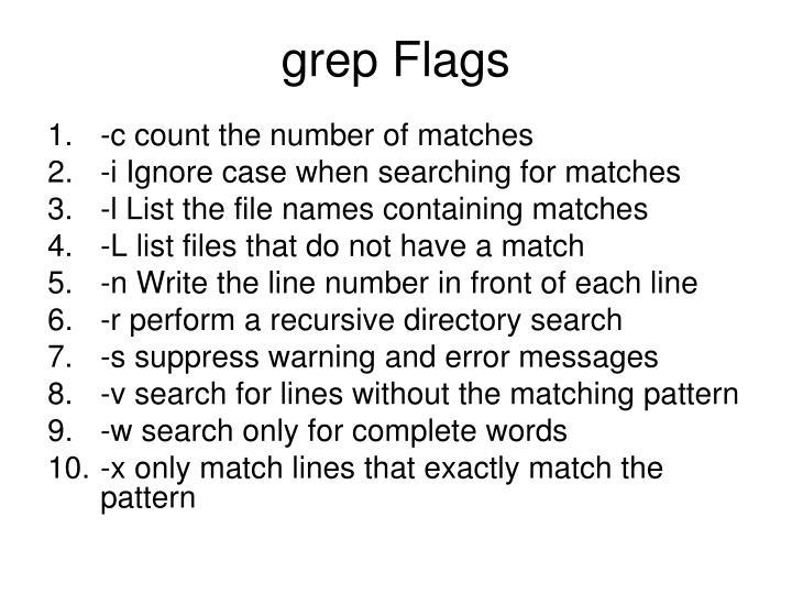 grep Flags