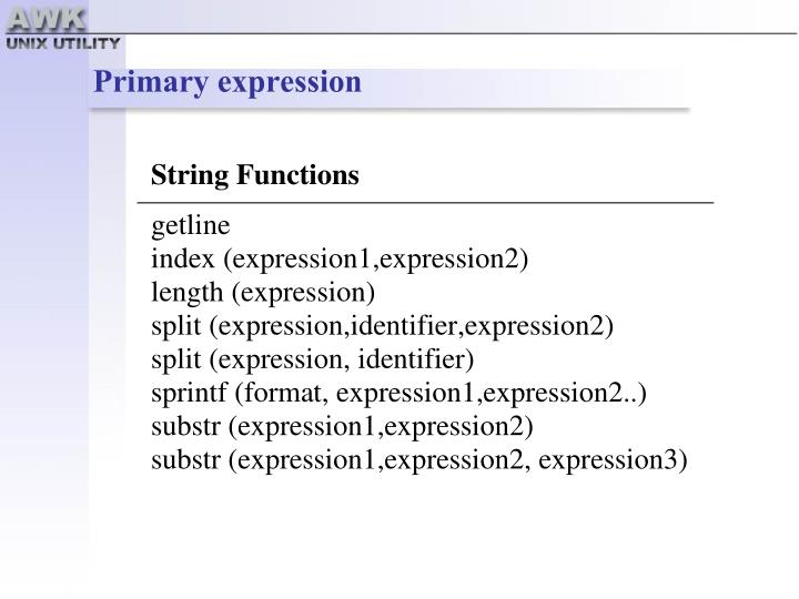 Primary expression