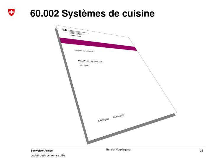 60.002 Systèmes de cuisine