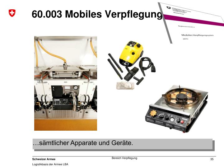 60.003 Mobiles Verpflegungssystem