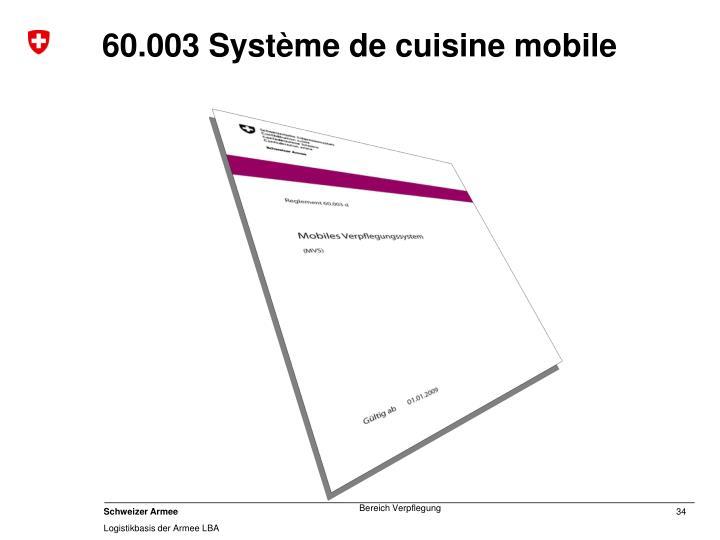 60.003 Système de cuisine mobile
