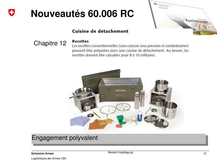 Nouveautés 60.006 RC