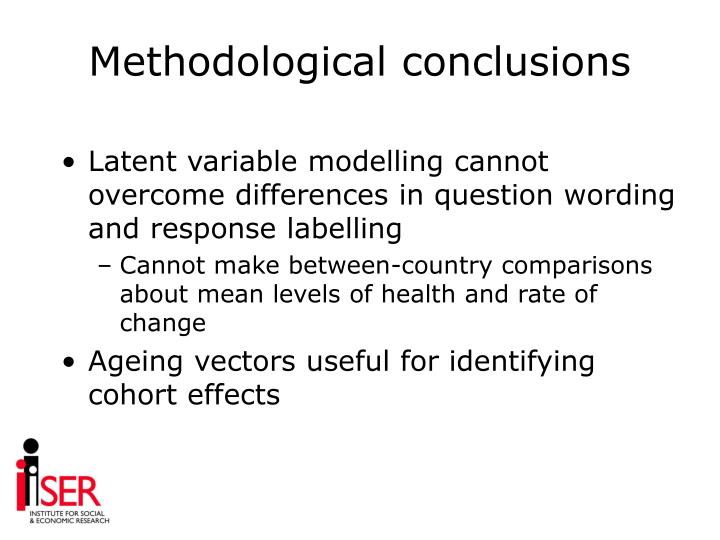 Methodological conclusions
