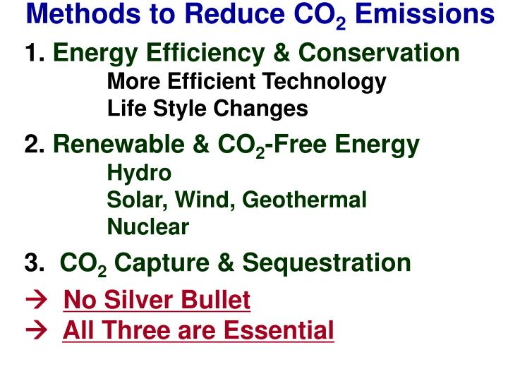 Methods to Reduce CO