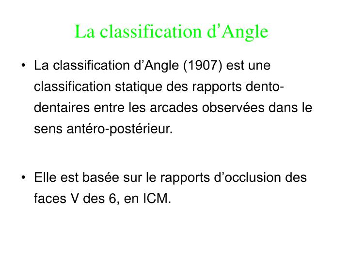 La classification d