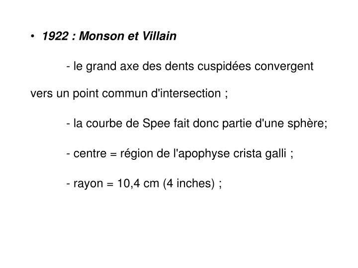 1922 : Monson et Villain
