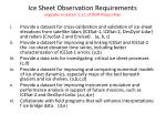 ice sheet observation requirements originally in section 1 3 1 of draft project plan