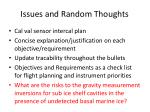 issues and random thoughts