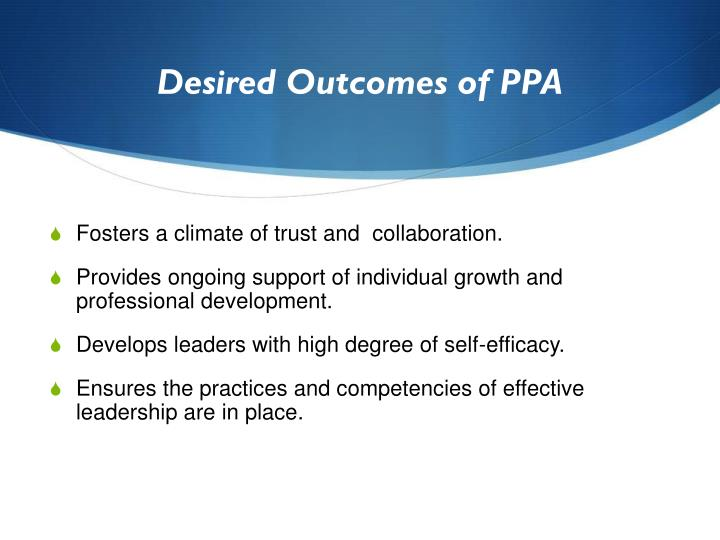 Desired Outcomes of PPA