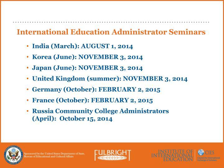 International Education Administrator Seminars