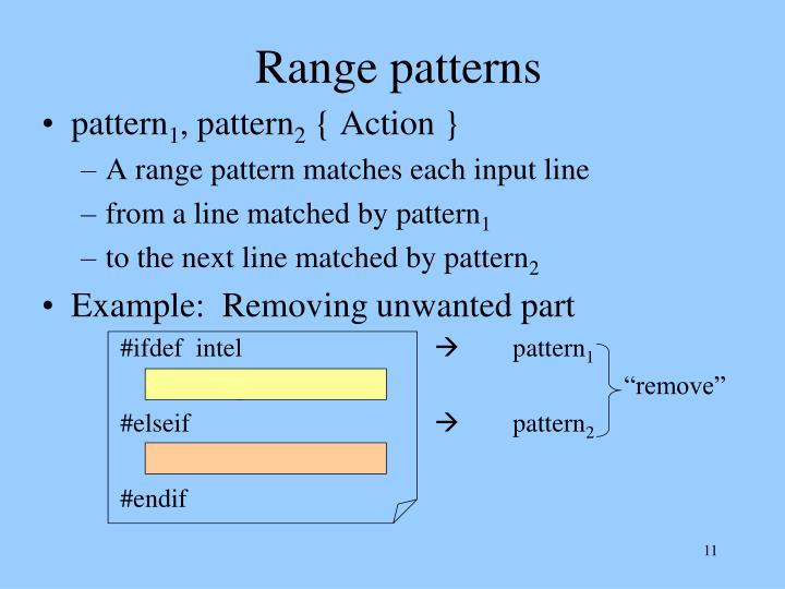 Range patterns
