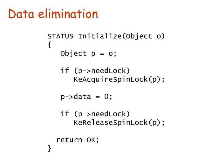 Data elimination