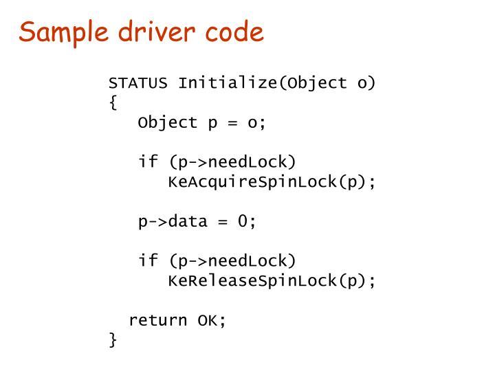 Sample driver code