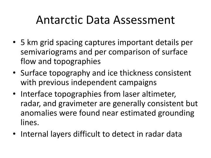 Antarctic Data Assessment