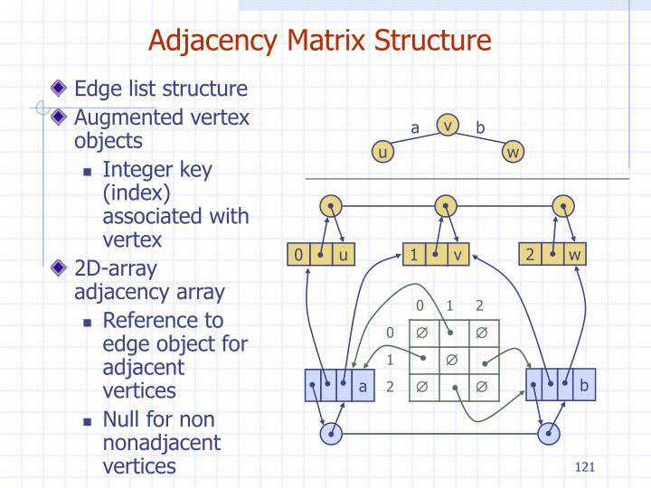 Adjacency Matrix Structure