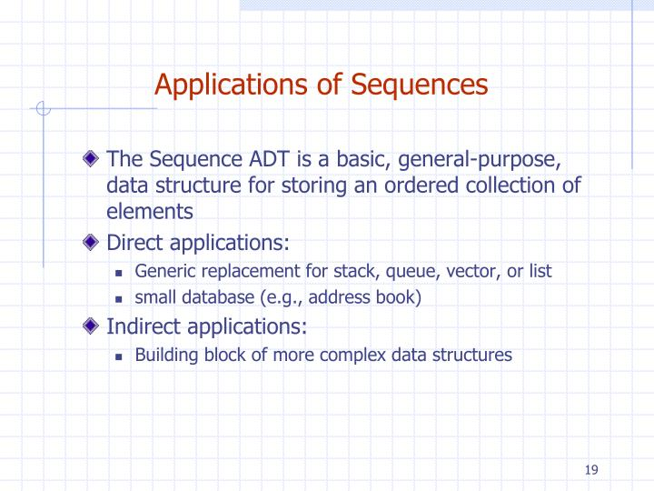 Applications of Sequences