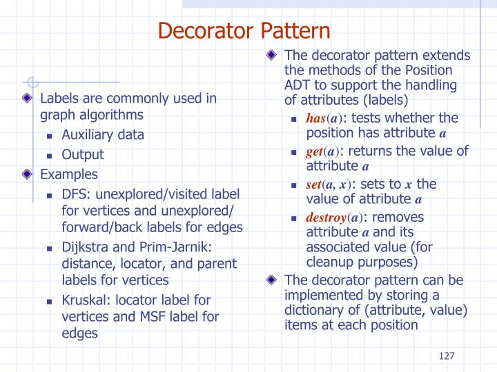 Labels are commonly used in graph algorithms