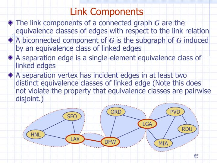 The link components of a connected graph