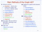main methods of the graph adt1