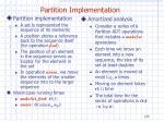 partition implementation