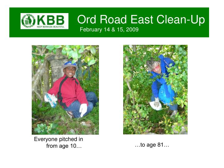 Ord road east clean up february 14 15 20092