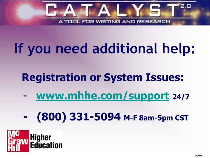 Catalyst  Student  Registration