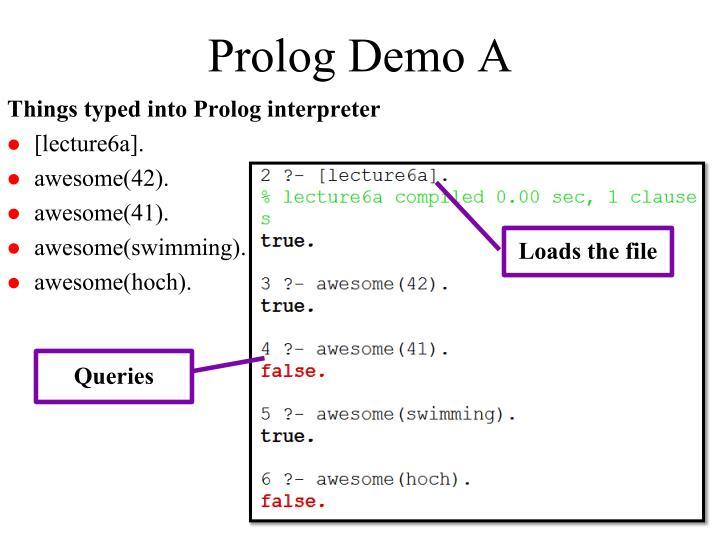 Prolog Demo A
