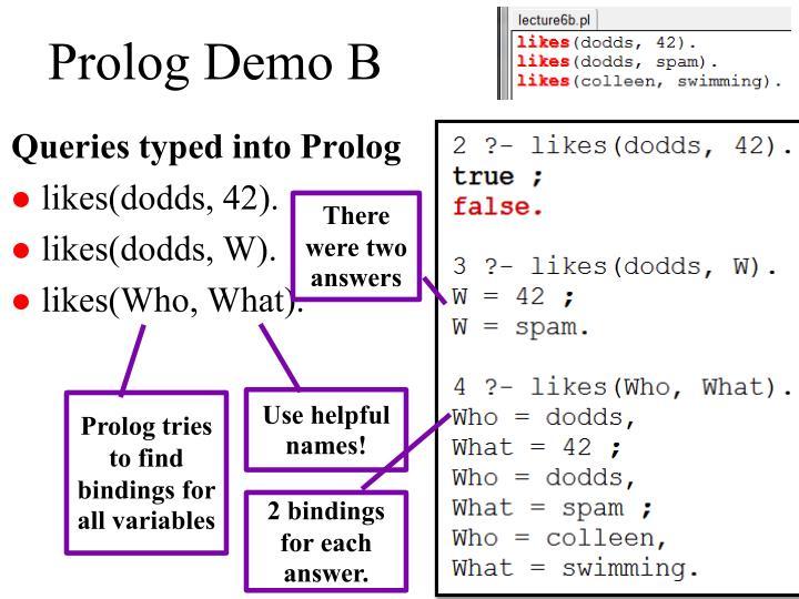 Prolog Demo B