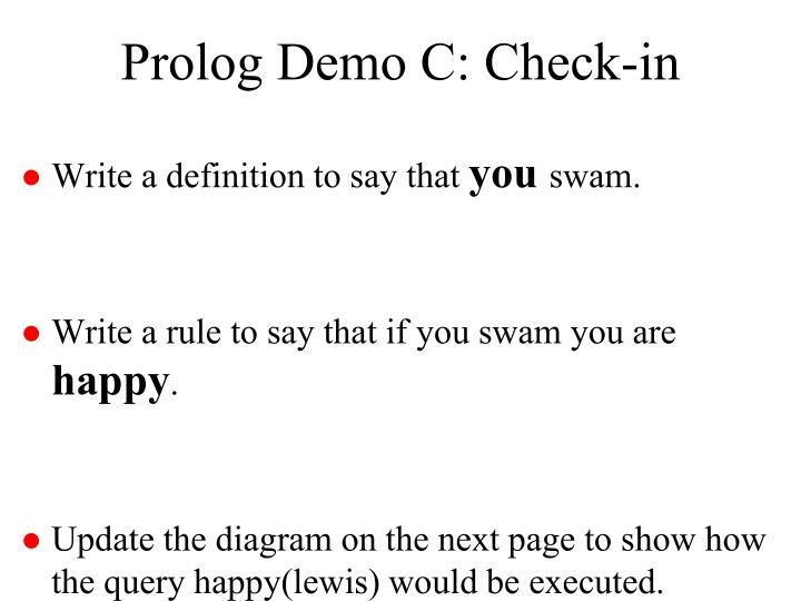 Prolog Demo C: Check-in