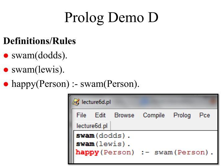 Prolog Demo D