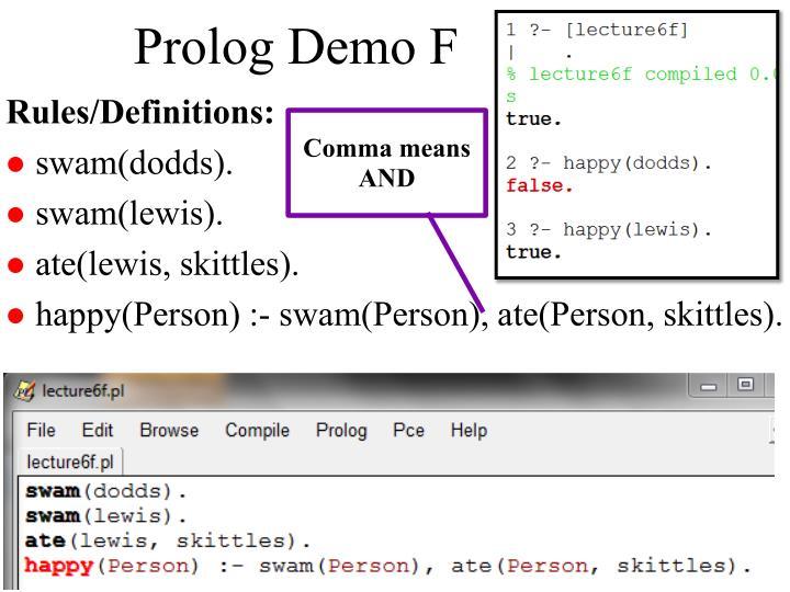 Prolog Demo F