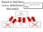 search to find facts a k a definitions that match