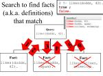 search to find facts a k a definitions that match2