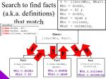 search to find facts a k a definitions that match4