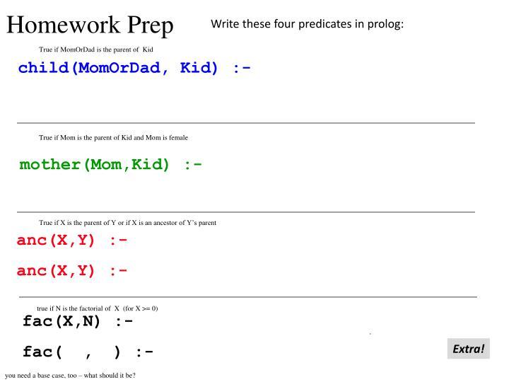 Homework Prep