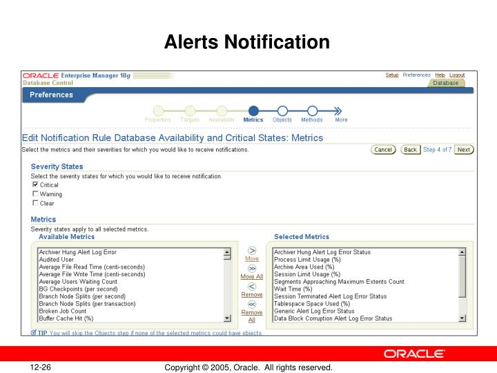 Alerts Notification